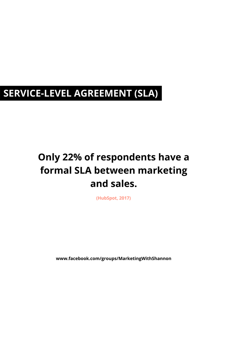 Only  Of Respondents Have A Formal Sla Between Marketing And