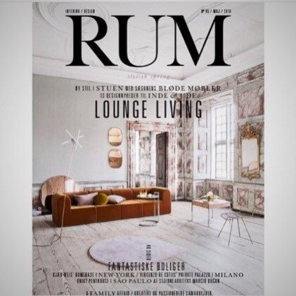The Large Circum Mirror And Rose Stilla Rug On Cover Of Danish Magazine RUM