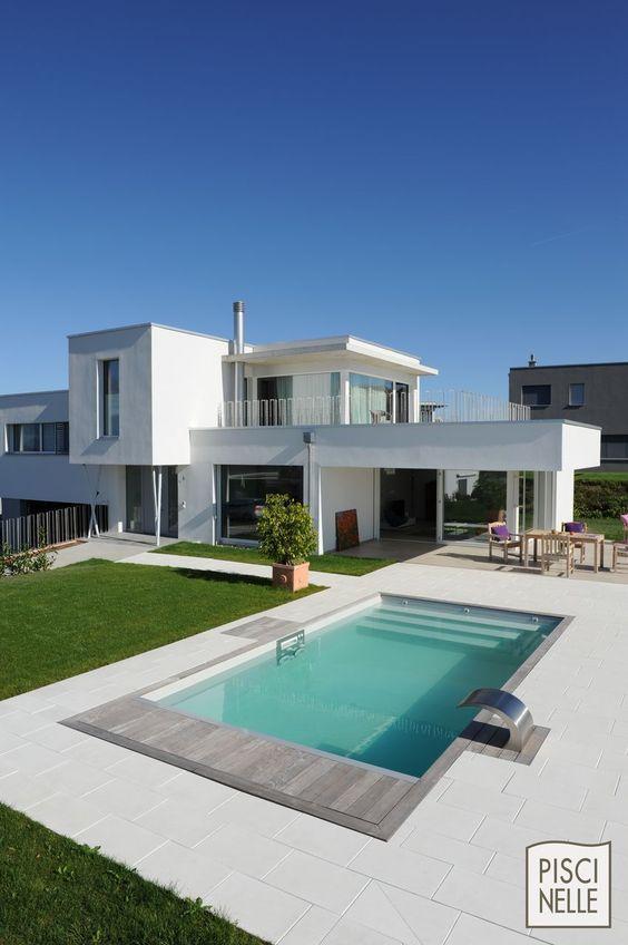 Prix D Une Piscine Enterree En 2020 Maison Architecte Piscines Modernes Piscine Maison