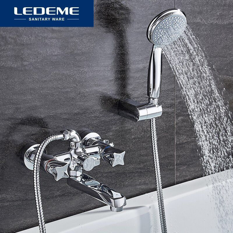 Ledeme Top Quality Bath Shower Faucets Set Bathroom Mixer Shower Bathtub Rainfall Shower Set Restroom Big Shower Shower Set Shower Faucet Sets Rainfall Shower