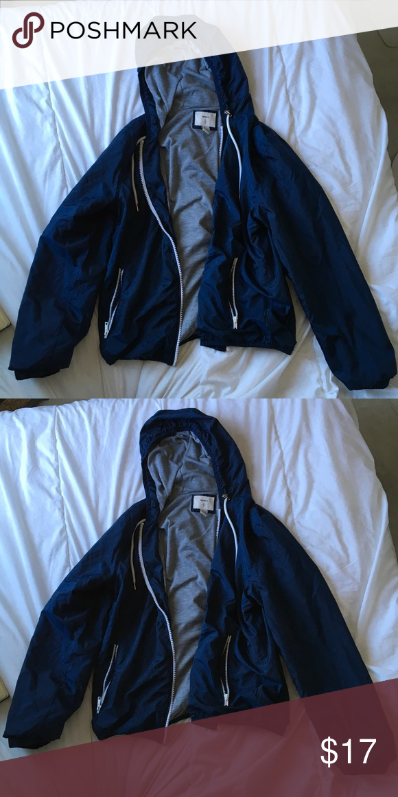 Forever 21 Navy Blue Windbreaker Inside material is super