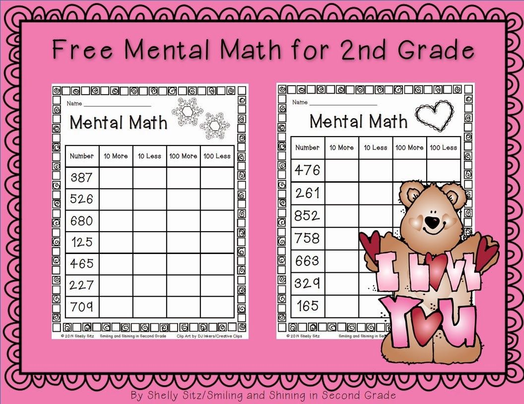 Mental Math For Second Grade