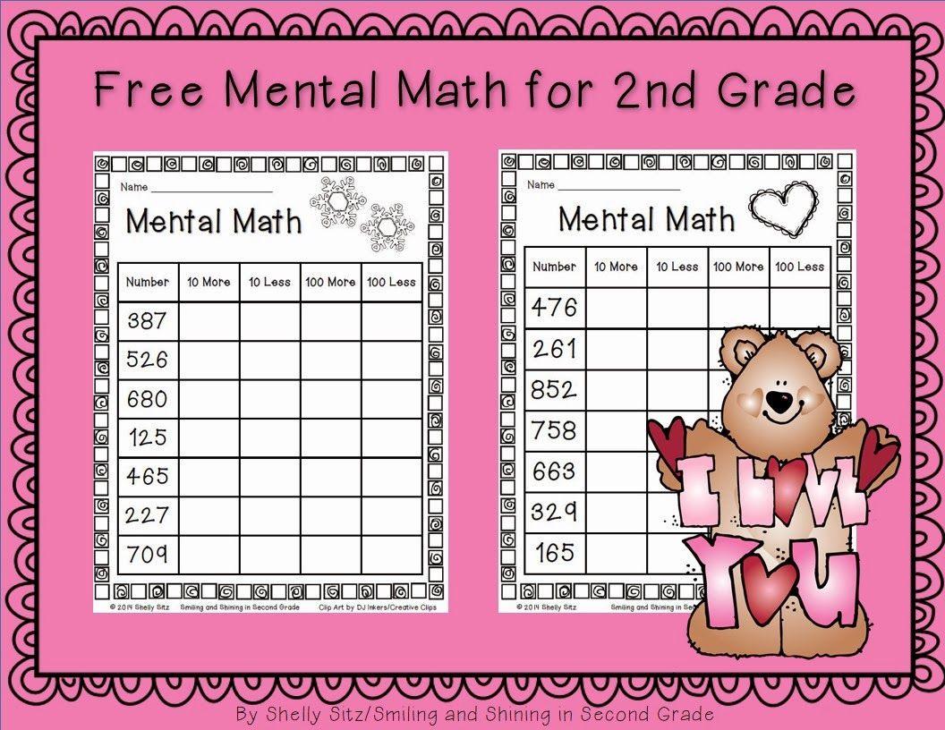 Mental Math For Second Grade