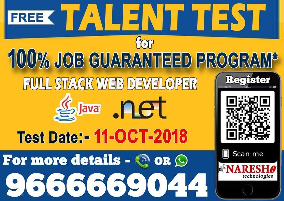 Attend Free Talent Test with 100 Job Guaranteed Program