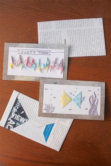 origami cards  origami cards stationery cards