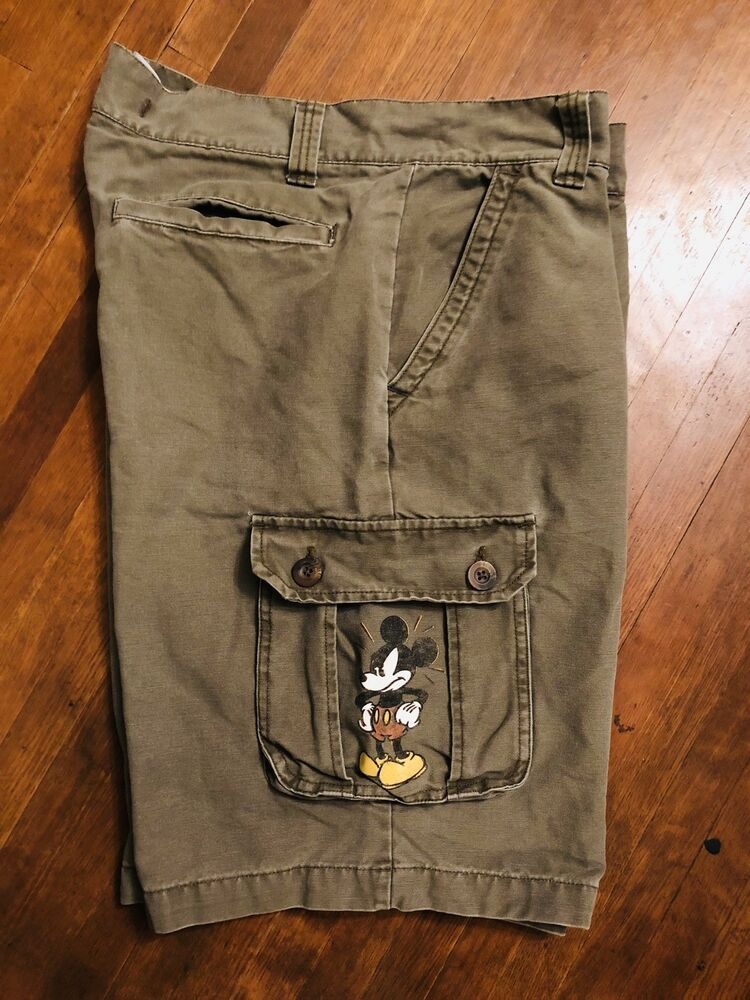 8a7218138c Mens Disney Store Cargo Shorts Size 34 Mad Mickey Mouse #fashion #clothing # shoes #accessories #mensclothing #shorts (ebay link)