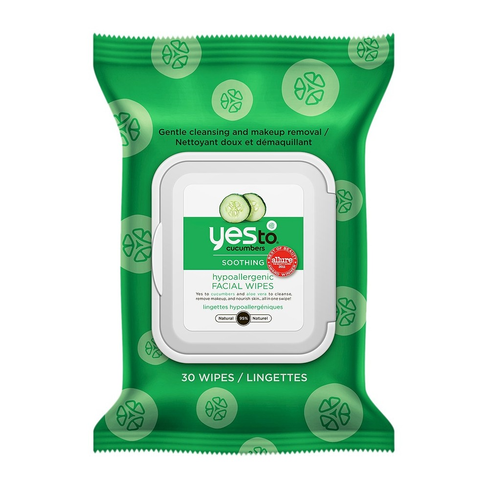 Yes to cucumbers hypoallergenic facial wipes ct