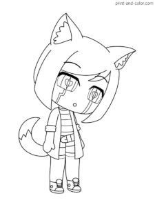 Gacha Life Coloring Pages Coloring Pages Color Print