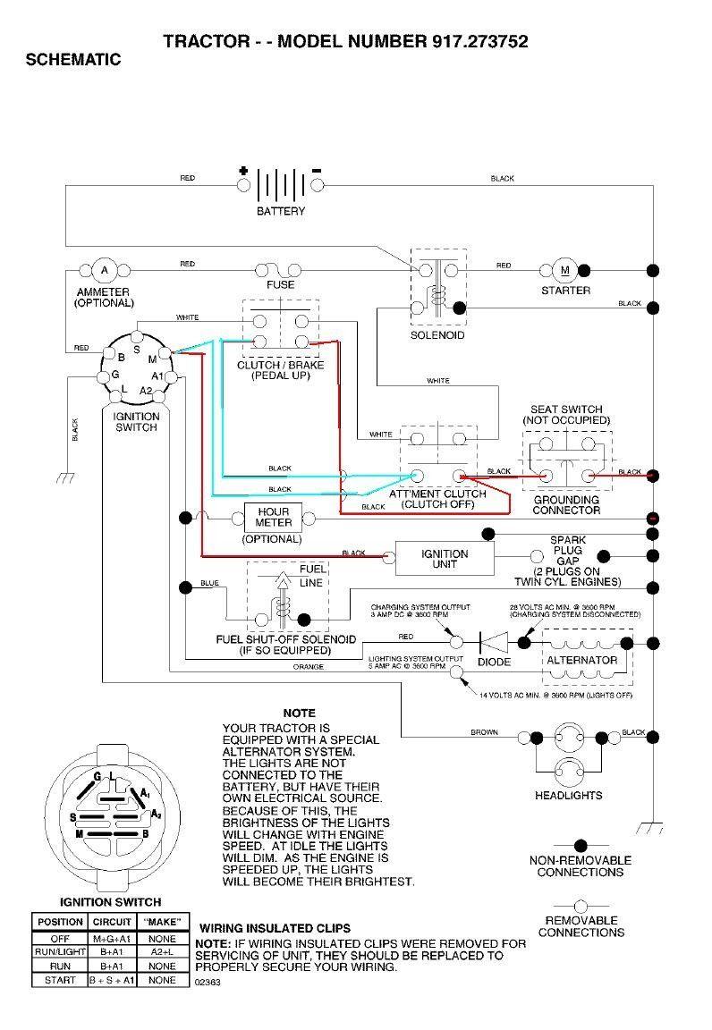 Craftsman Lawn Mower Wiring Diagram Wiring Diagram Collection In 2021 Craftsman Riding Lawn Mower Riding Lawn Mowers Electrical Diagram