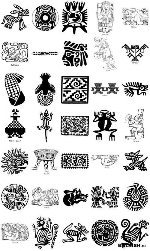 Татуировки индейцев северной америки с названиями 14