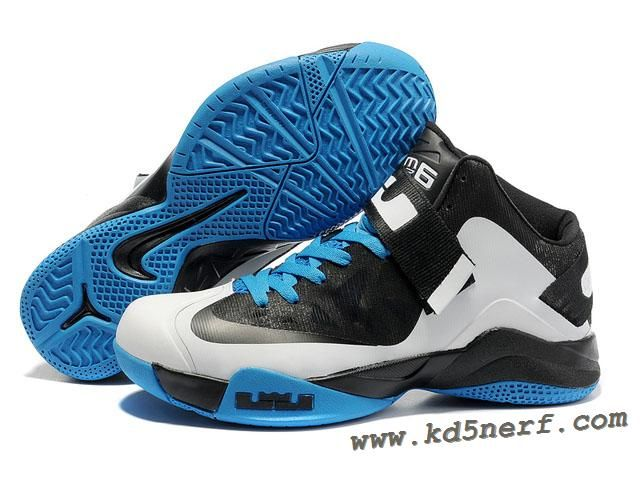 Buy Lebron James Zoom Soldier 6 Shoes Blue Black White 525015 003 For Sale  from Reliable Lebron James Zoom Soldier 6 Shoes Blue Black White 525015 003  For ...