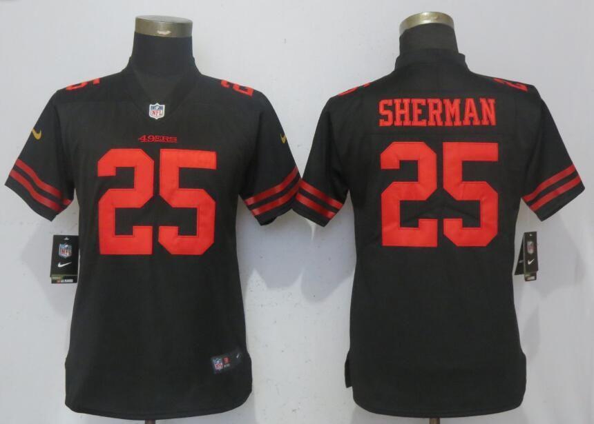fb2f0ebb4 Women San Francisco 49ers 53 Bowman Black Nike Vapor Untouchable Limited  NFL Jersey