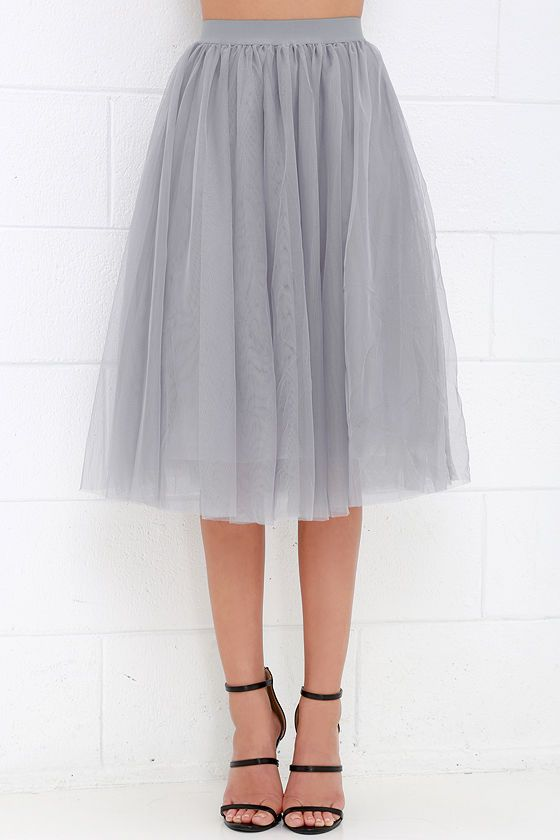 5f19fc821357 Urban Fairy Tale Grey Tulle Skirt | For The Wife- Signature Pieces ...
