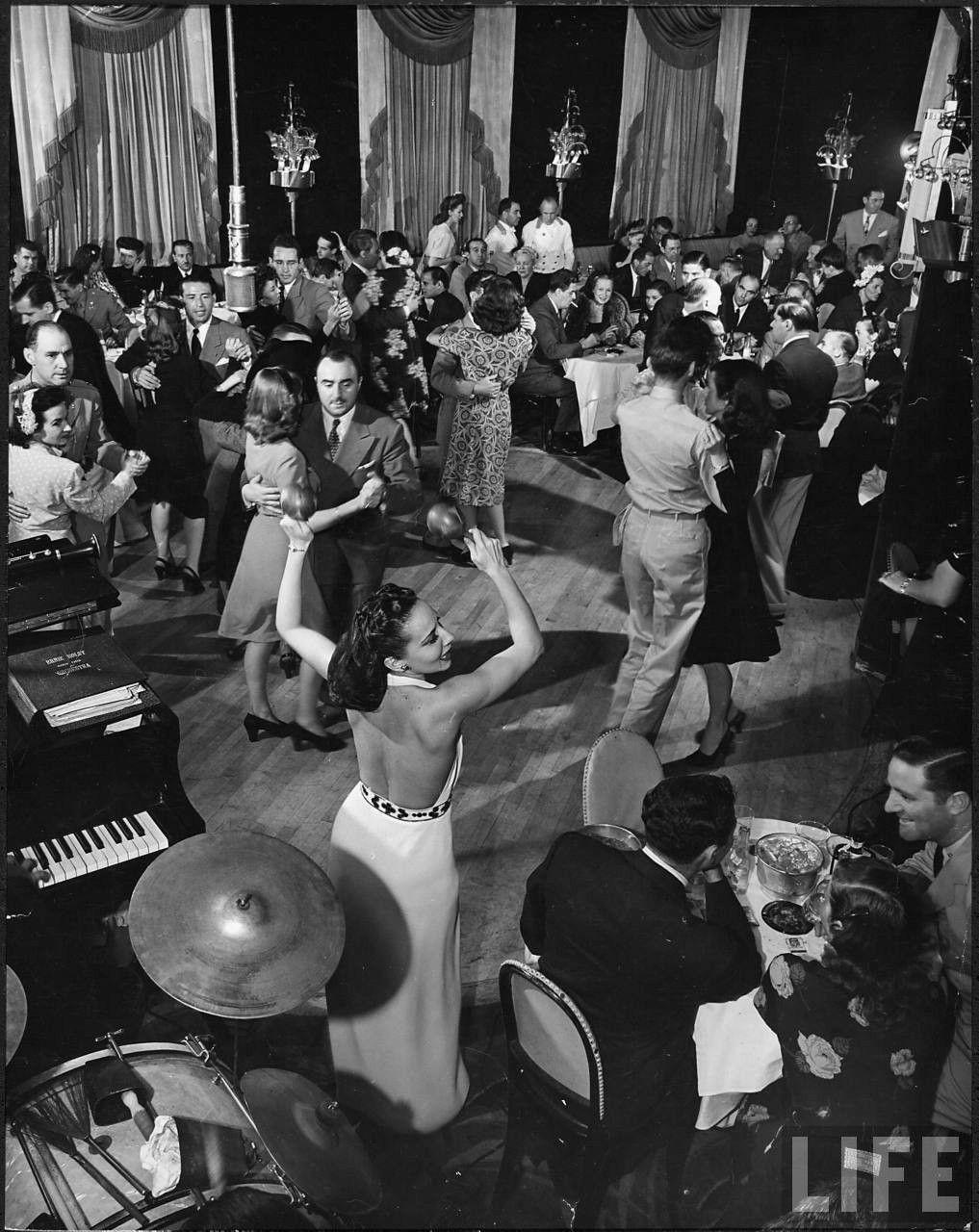 New York Dance Club 1950s Cafe Society Alfred Eisenstaedt Night Club