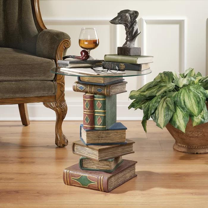Stacked Volumes Sculptural End Table In 2021 Huis Ideeen Decoratie Oude Boeken Meubels