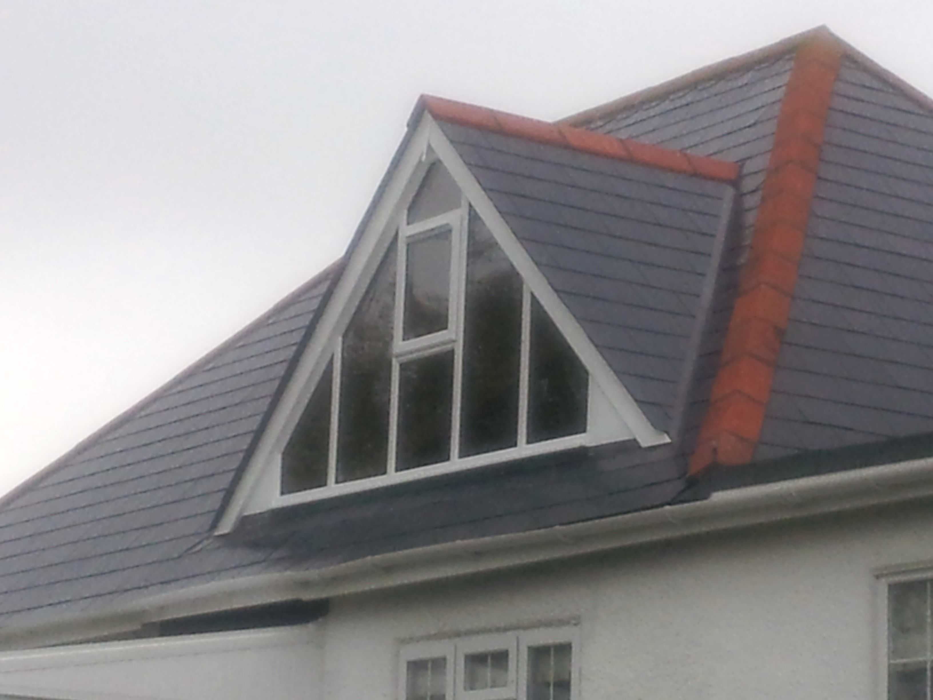 Glass Gable Ended Dormer Window For Room With High