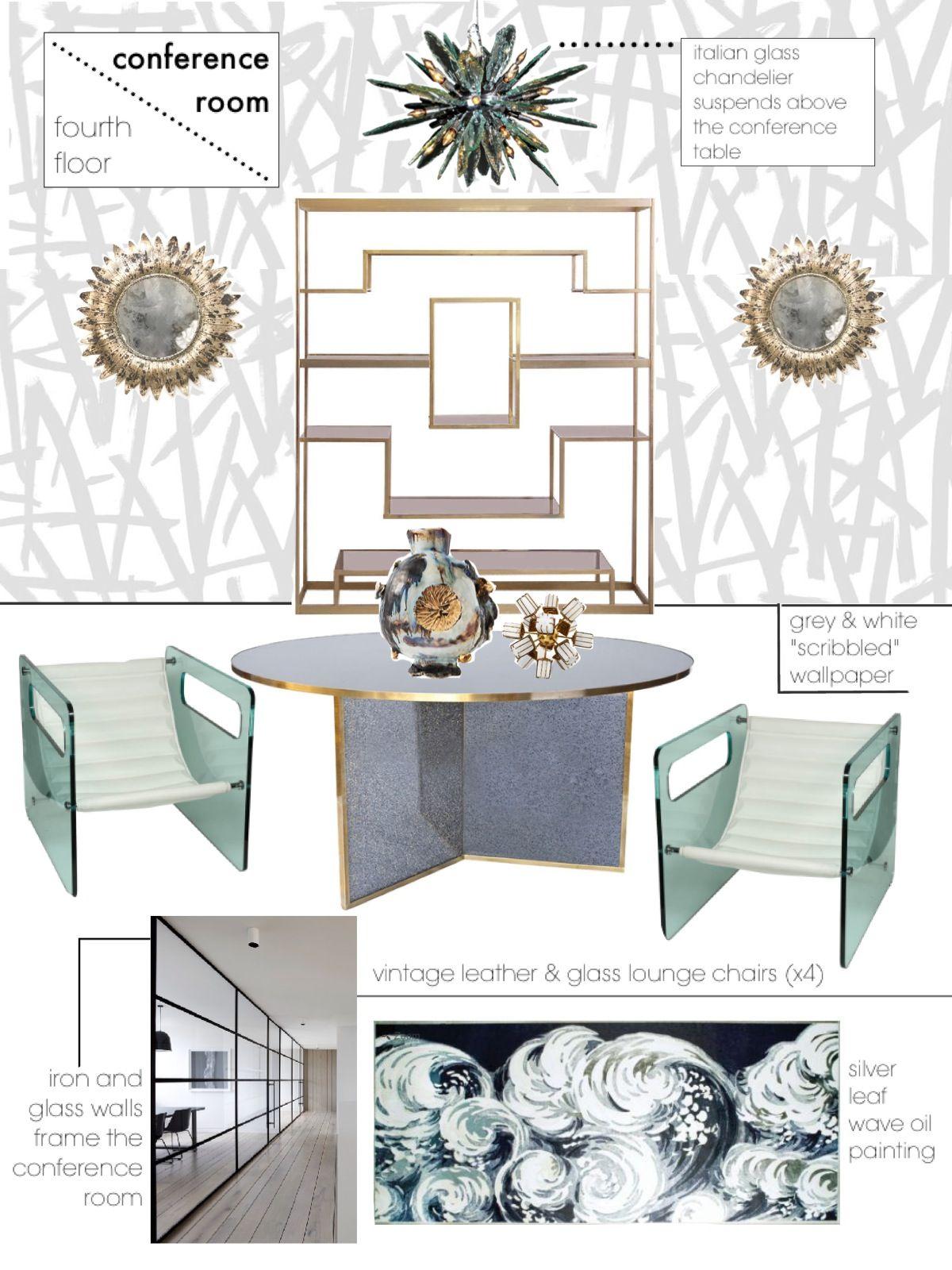 Room Design Application 8. conference room sketch | parsons interior design application