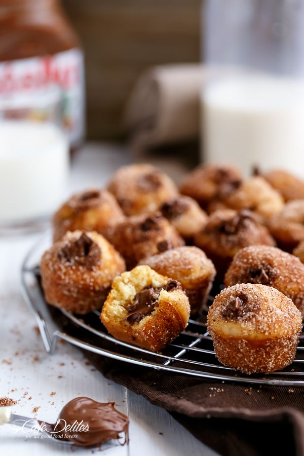 Nutella Churro Donut Holes FoodBlogs.com