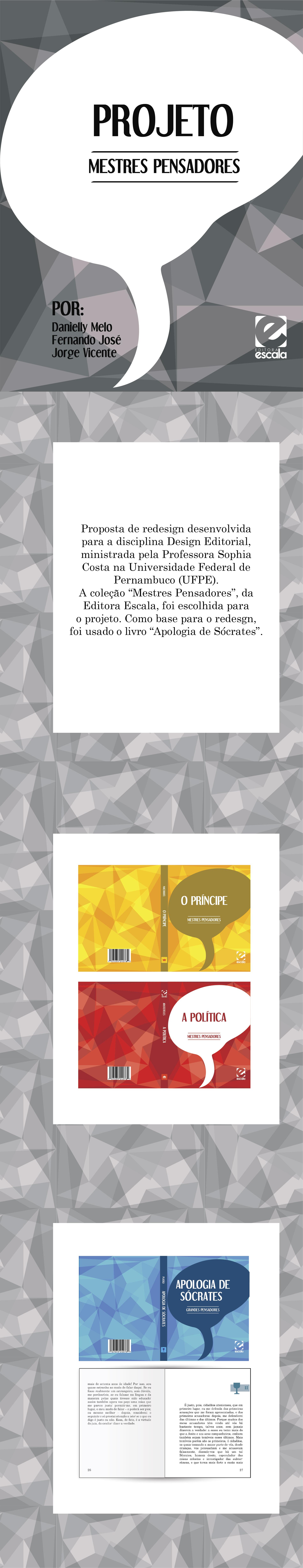 Projeto desenvlvido para a disciplina Design Editorial, ministrada pela professora Sophia Costa, na Universidade federal de Pernambuco (UFPE - CAA).