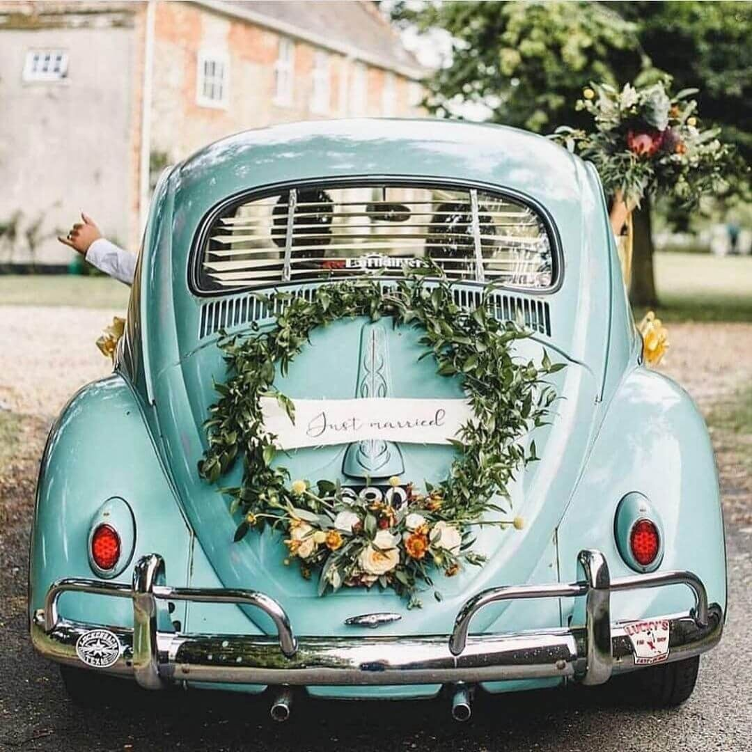 beautiful and showstopper car decoration ideas for wedding