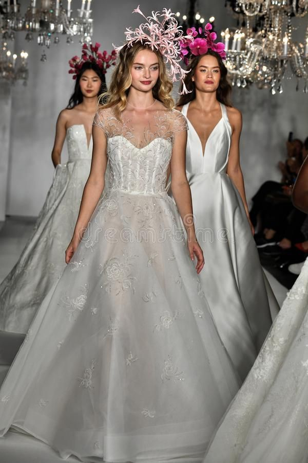 Models walk the runway finale during the Anne Barge Bridal 20th Anniversary 2020 , Models walk the
