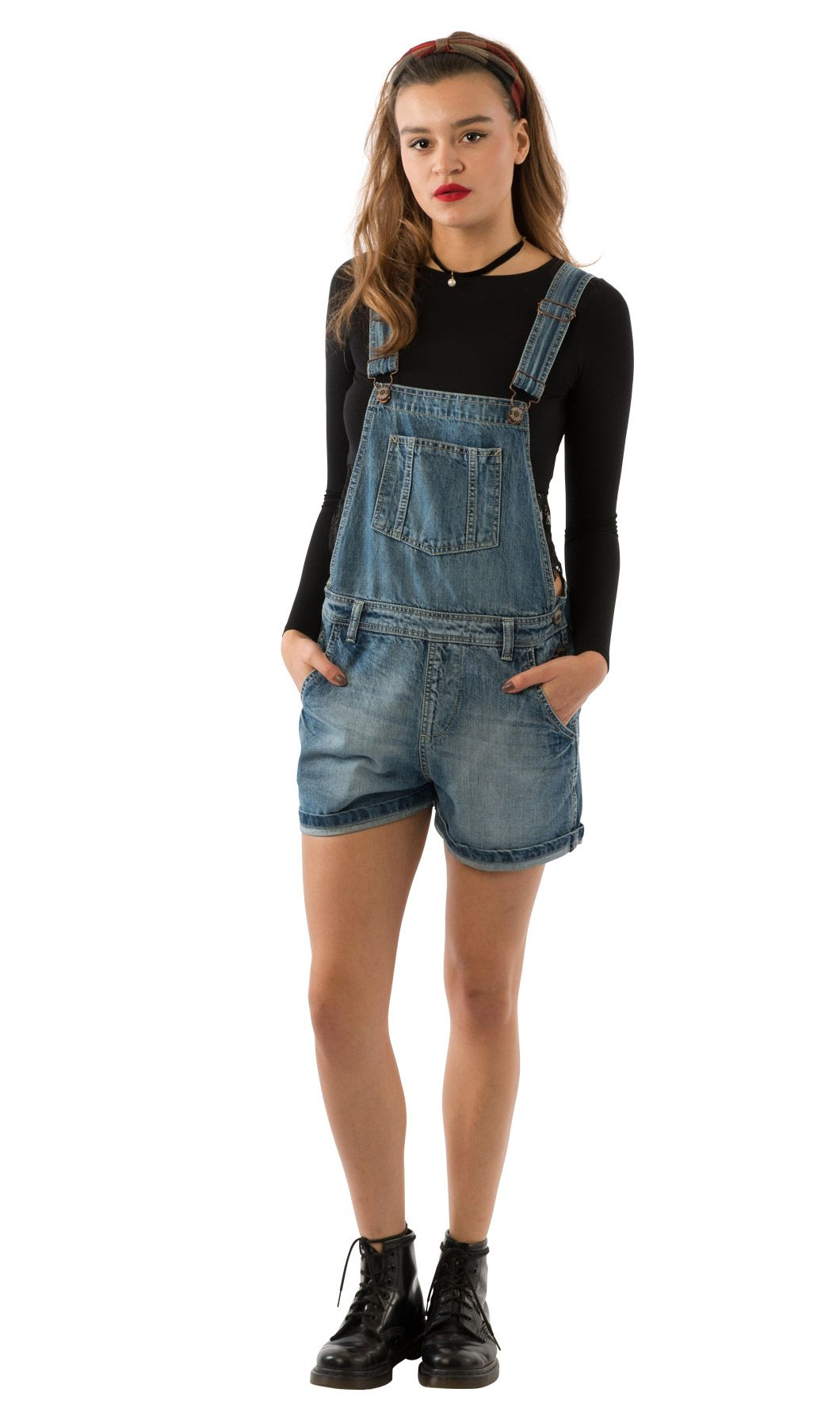 a7d97d13f3d USKEES ANNA - Relaxed Fit Stonewash Denim Dungaree Shorts.  overalls   shortalls  dungareeshorts  Uskees