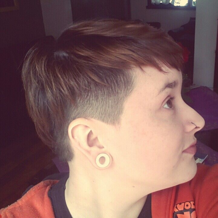 Pixie Cut With Shaved Sides Pinterest Pixie Cut And