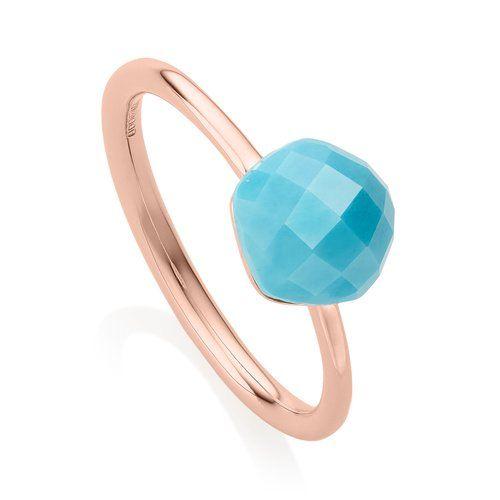Monica Vinader Nura Nugget Rose Gold Vermeil Turquoise Earrings bltPR3n9