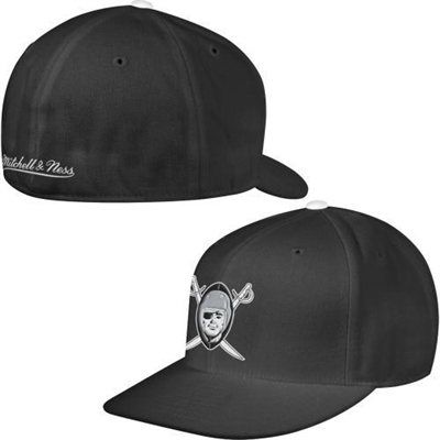 ... nfl team basic 59fifty cap 02c60 bec53  shop mitchell ness oakland  raiders black vintage logo fitted hat raiders fans oakland raiders 90d8a  5803f a06b5ef943fd