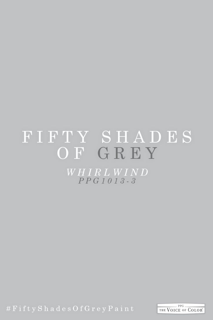 Whirlwind Ppg1013 3 Shades Of Grey Paint Paint Colors