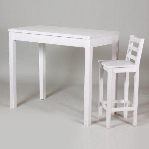 Bartisch Stehtisch Tisch 120x65 H 110 Cm Kiefer Massiv Weiss
