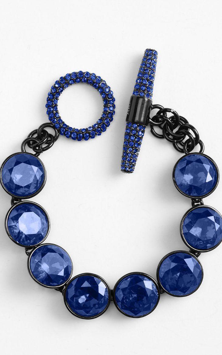 Juicy Couture Blue Glam Rocks Station Bracelet