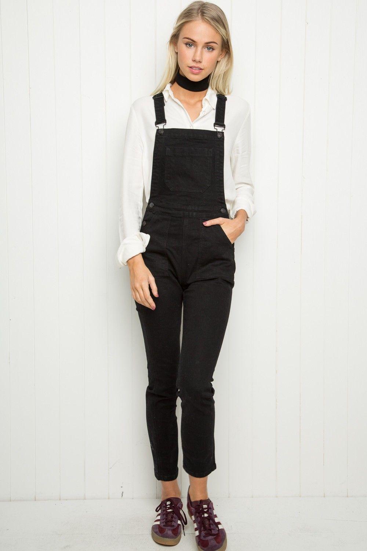 Black t shirt dress brandy melville - Brandy Melville Uma Overalls Overalls Clothing