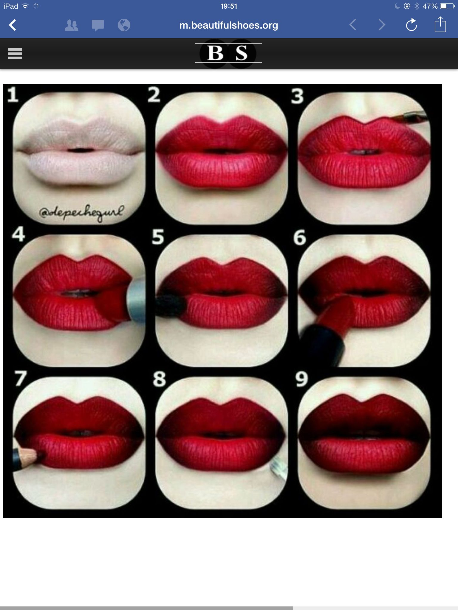 Red Lip Black Liner Lipstick Full Lip Effect Mac Lipstick