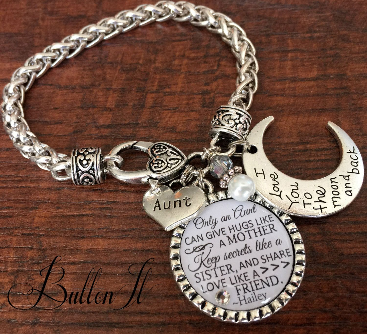 Aunt gift gifts for aunt aunt bracelet i love you to