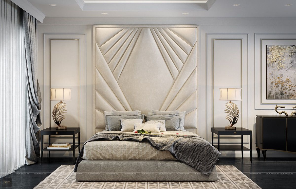 40 Transitional Bedrooms That Beautifully Bridge Modern And Traditional Luxurious Bedrooms Luxury Bedroom Decor Transitional Bedroom Design Gorgeous transitional style bedroom