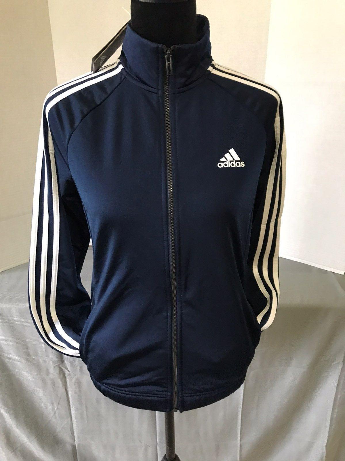 Brand New Adidas 3 Stripes Trackjacket Navy Blue Women Sz Small Adidas Adidas Sweats Black Adidas [ 1600 x 1199 Pixel ]
