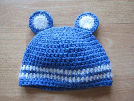 Baby Mütze Mit Teddybär Ohren Häkeln Kostenlose Anleitung Diy
