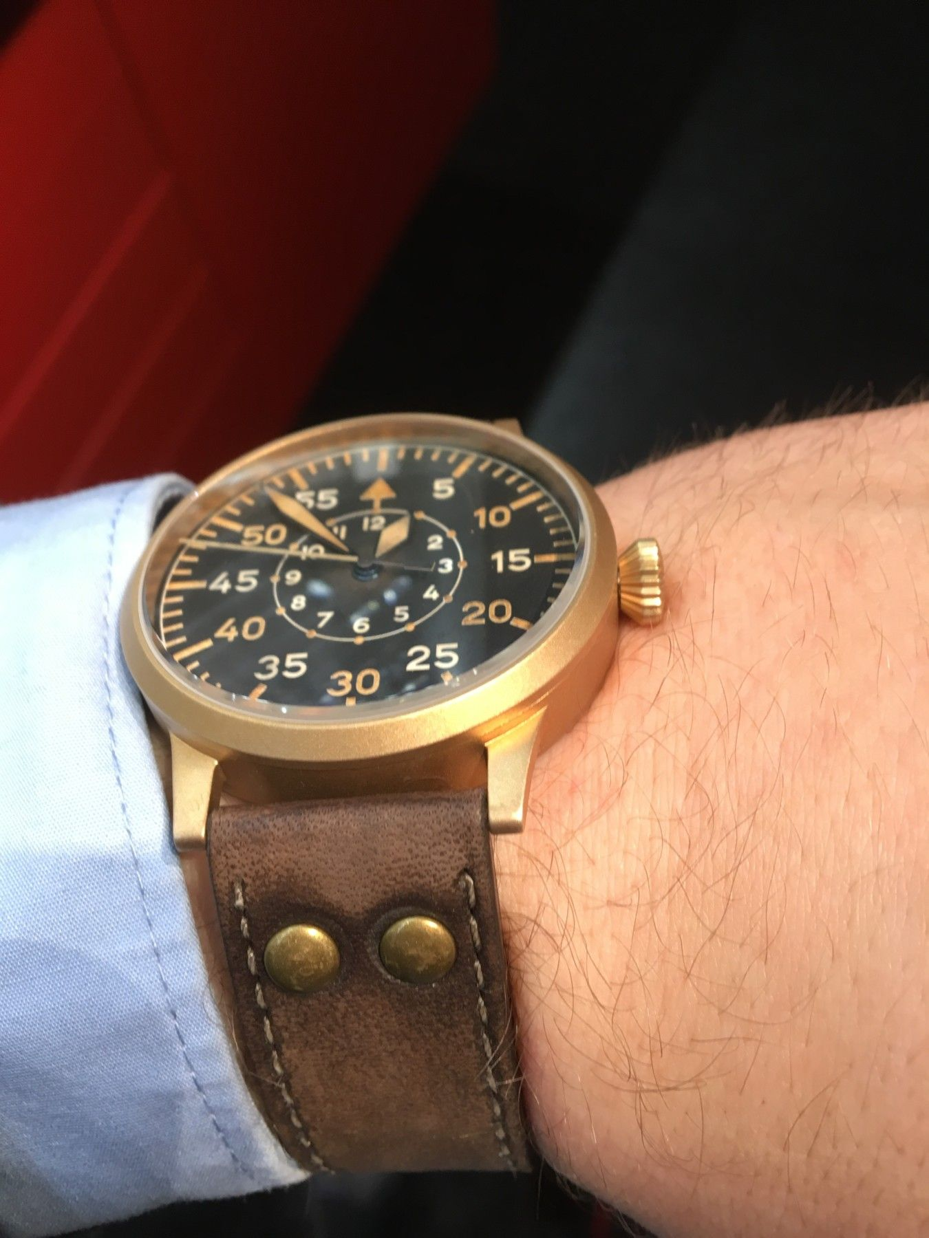 Laco Bronze Beobachtungsuhr 45mm Muster   LACO Beobachtungsuhr ...