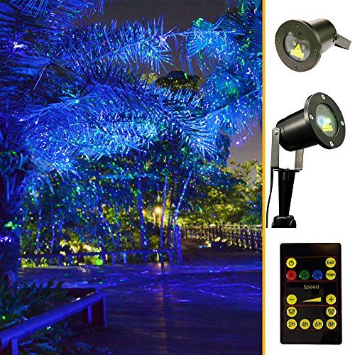Amazon Com Green And Blue Light Garden Tree And Outdoor Wall Decoration Laser Lights For Holiday Lig Outdoor Wall Decor Laser Christmas Lights Holiday Lights
