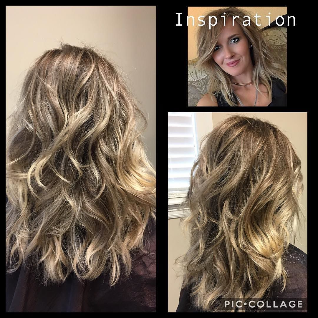 When your client brings you a picture of you but she has amazing thick and beautiful hair!! I was jealous for sure!!  #hairgoals #Joico #lumishine #thegwsalon #hattiesburg