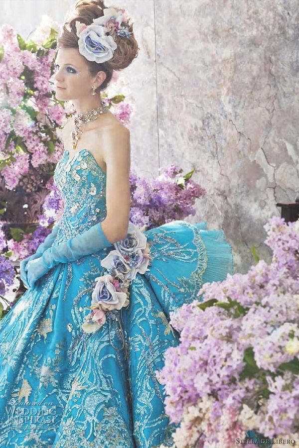 Stella de Libero Color Wedding Dresses | Turquoise wedding dresses ...
