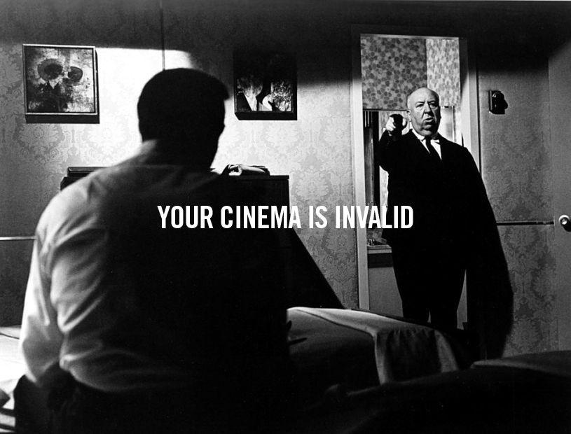 Your cinema is invalid. Hitchcock