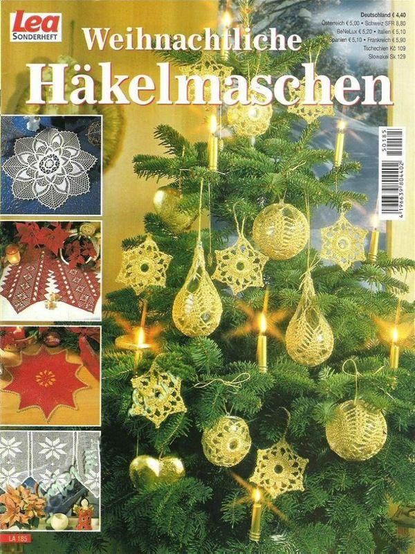 Christbaumkugeln Tschechien.Lea Sonderheft La 185 Weihnachtliche Hakelmaschen Ajakirjad Lea