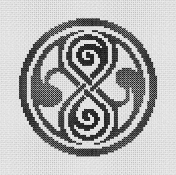 Doctor Who Gallifrey Symbol Cross Stitch Pattern Doctor Who