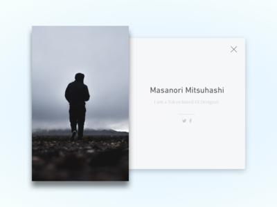 Daily UI #6 - User Profile by Masanori Mitsuhashi