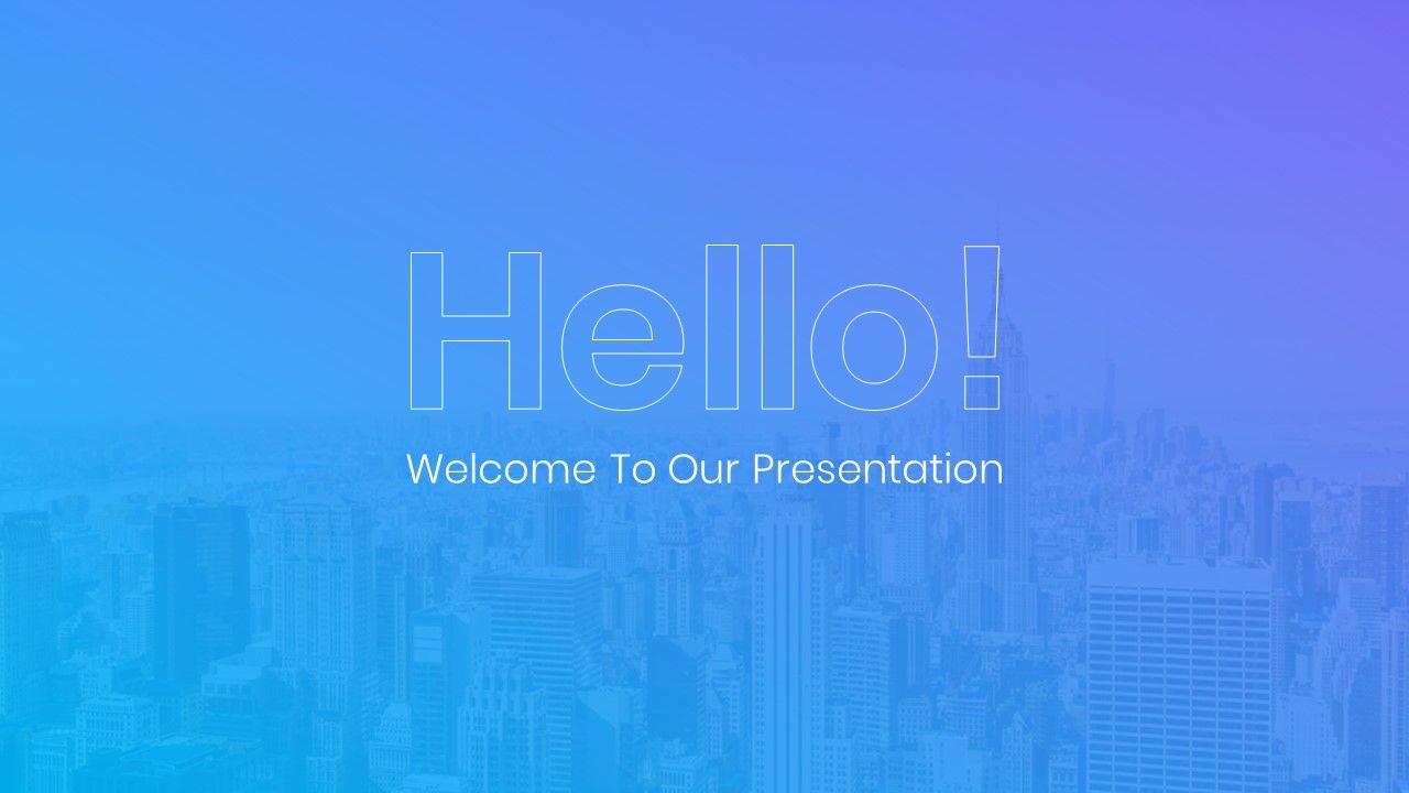 Impressive Powerpoint Presentation Template 2019