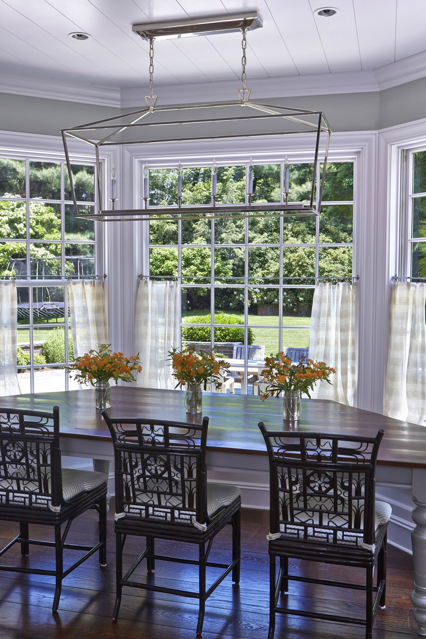 Kitchen nook window treatments  sunroom with large windows  window treatments  pinterest  sunroom