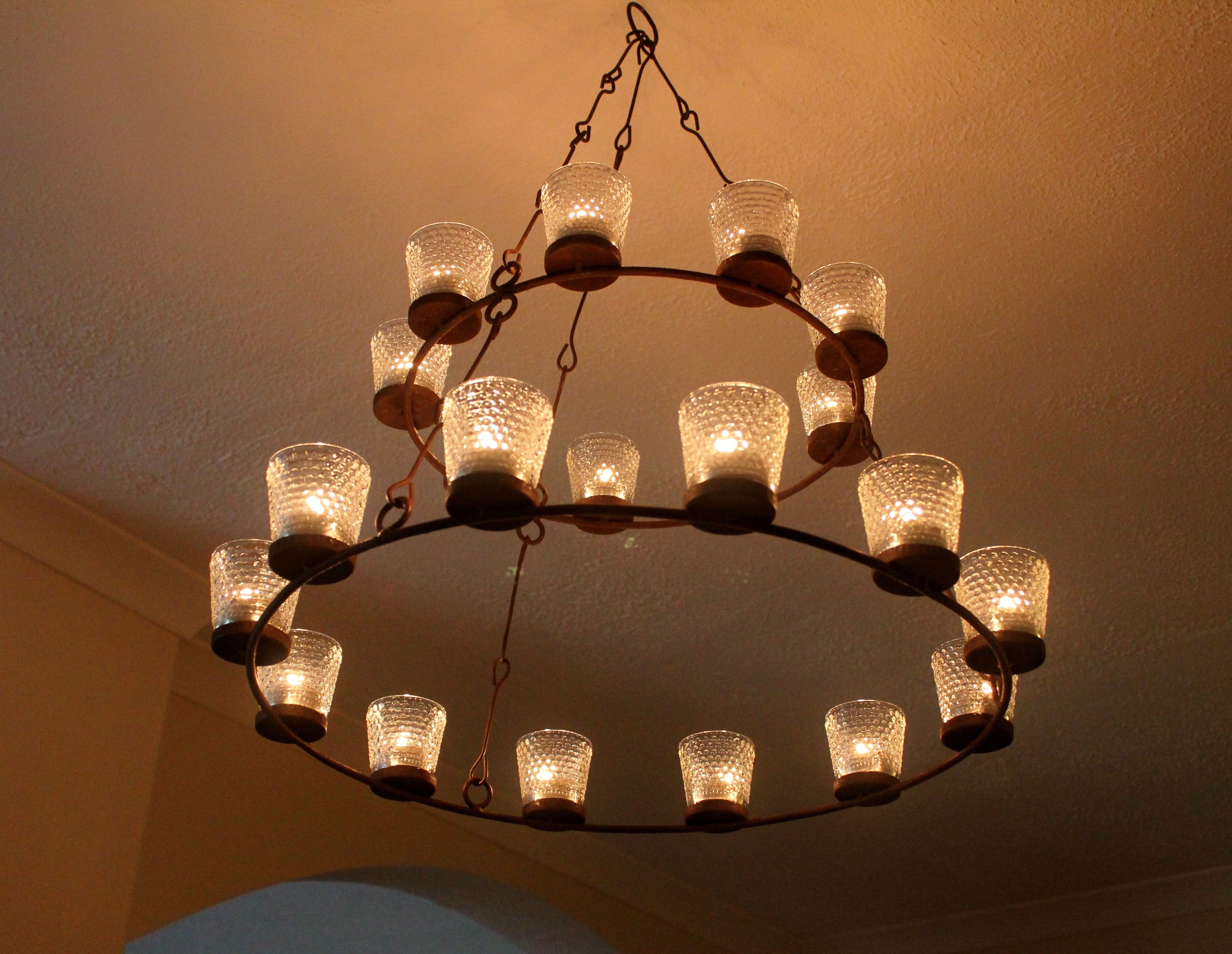 My Tealight Chandelier With Images Tea Lights Chandelier Home Decor