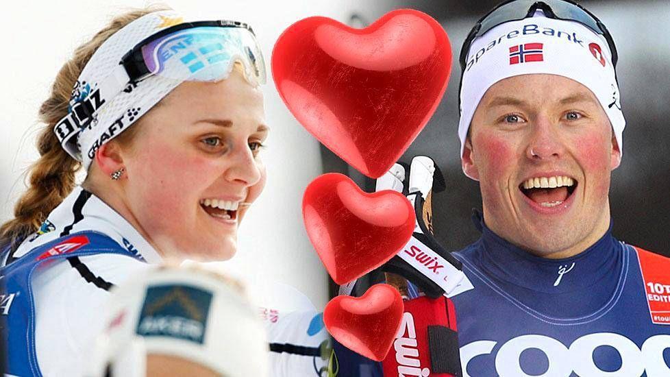 """Pelastaako tämä romanssi Ruotsin ja Norjan hiihtosuhteet? """"Näin heidän suutelevan"""""""